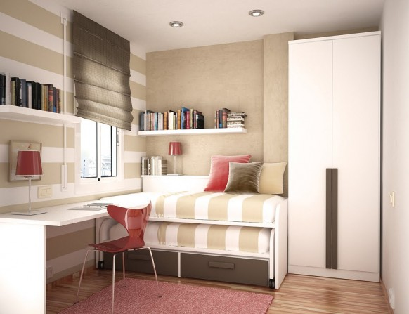 Decora o quarto neutro s para meninas blog feminino por rafaelli antes - Space saving ideas for small childrens bedrooms minimalist ...