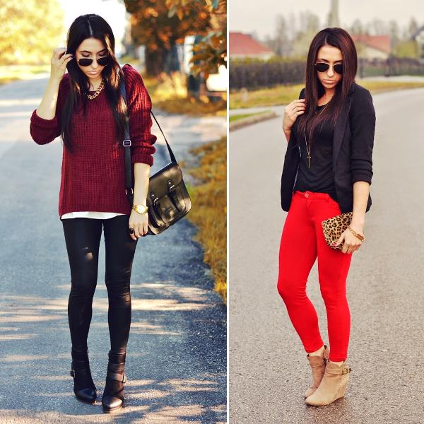 look de inverno: vermelho