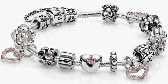 pulseira Pandora e charms