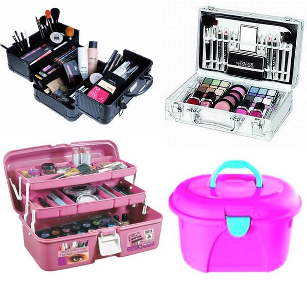 Como guardar maquiagem: maleta