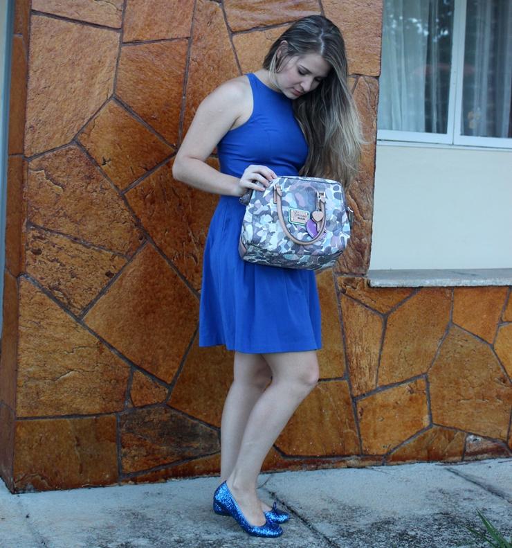 look do dia vestido azul