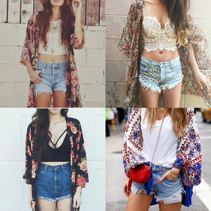 como usar kimono estampado só para meninas 2