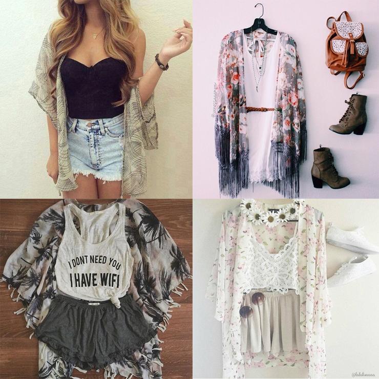 como usar kimonos só para meninas