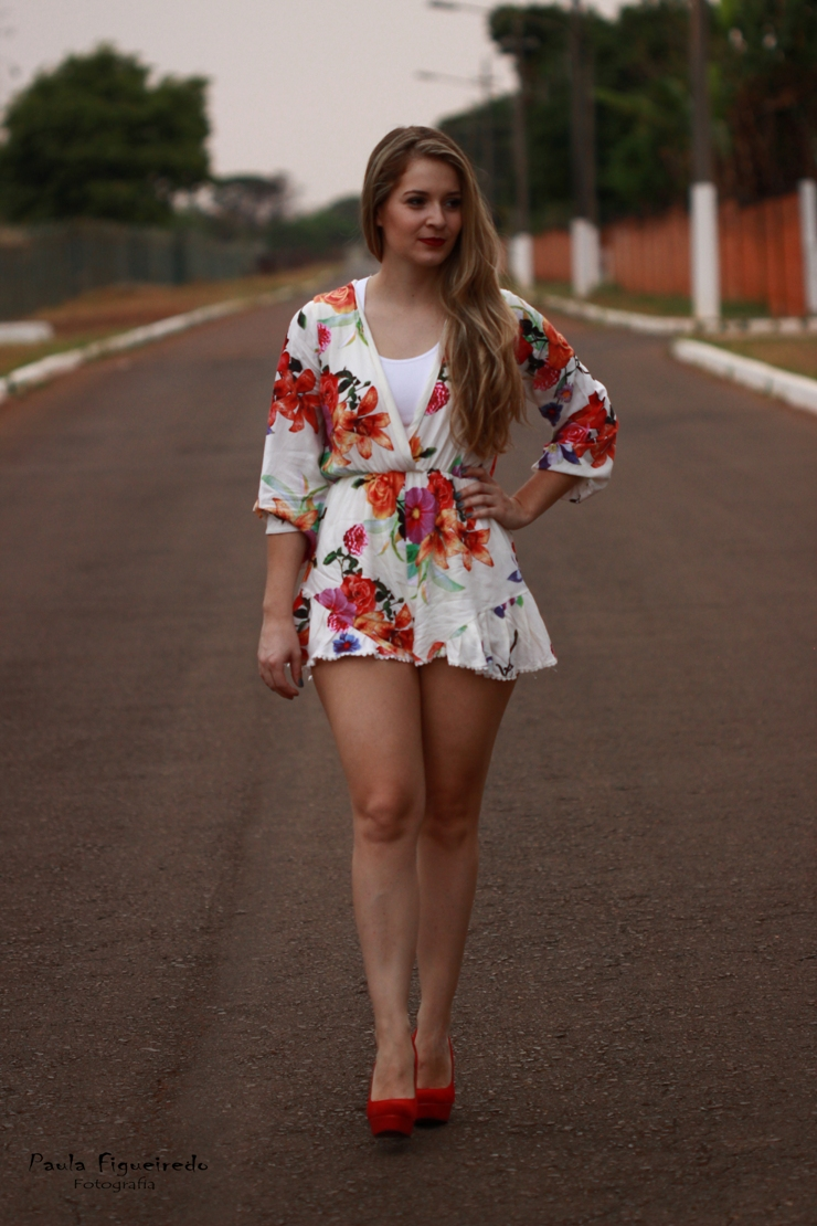 look do dia macaquinho floral só para meninas rafaelli