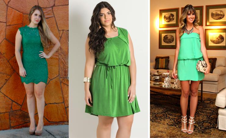 look natal 2015 vestido verde