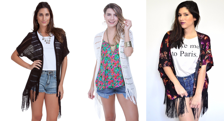 moda verão 2016 kimonos