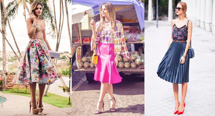 moda verão 2016 saia midi