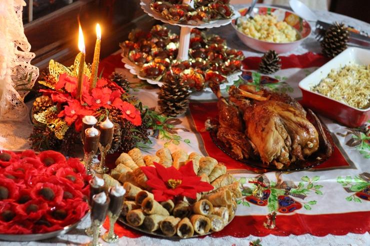 decoracao natal 2015 mesa ceia
