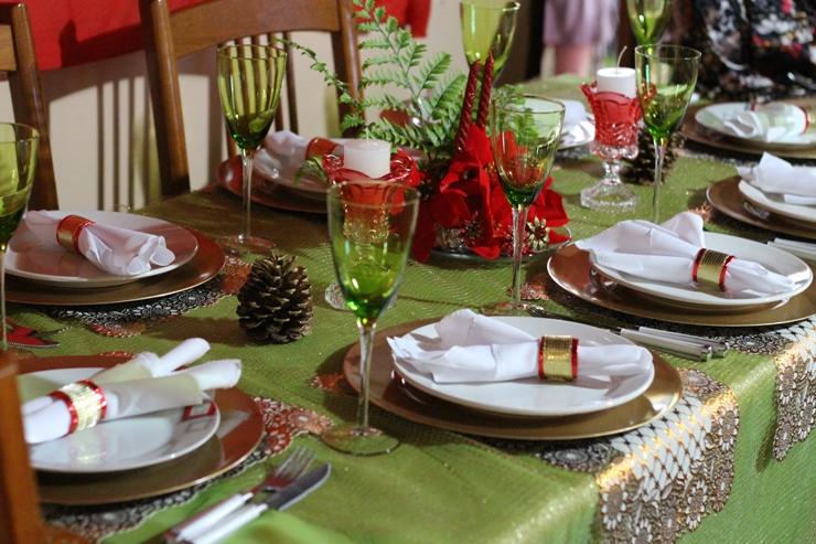 decoracao natal 2015 mesa jantar