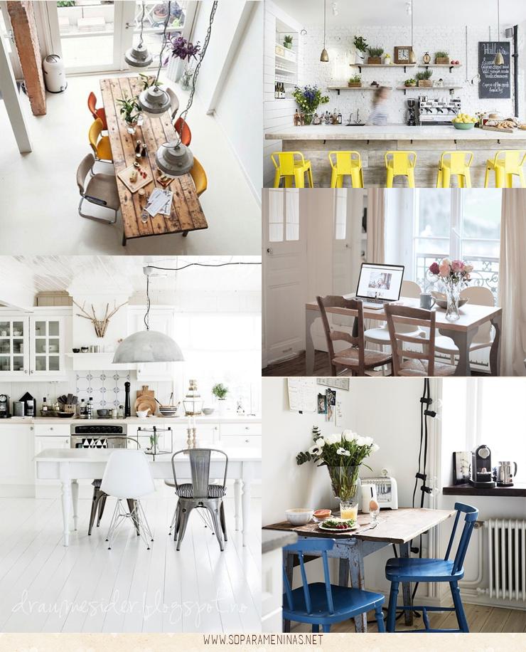 decoração de cozinha cadeiras e mesa