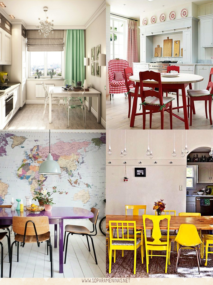 decoração de cozinha mesa e cadeiras