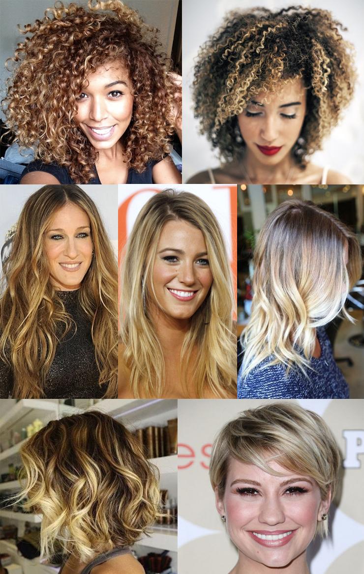 cabelos com luzes fotos