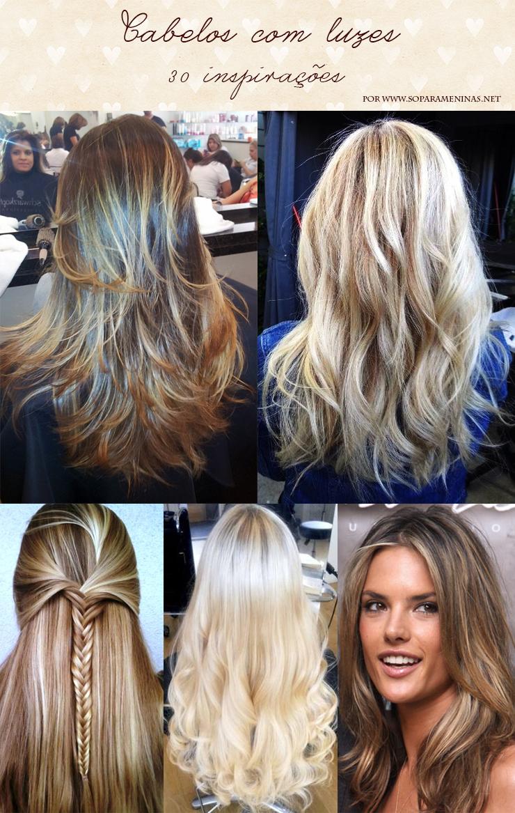 cabelos com luzes inspirações fotos