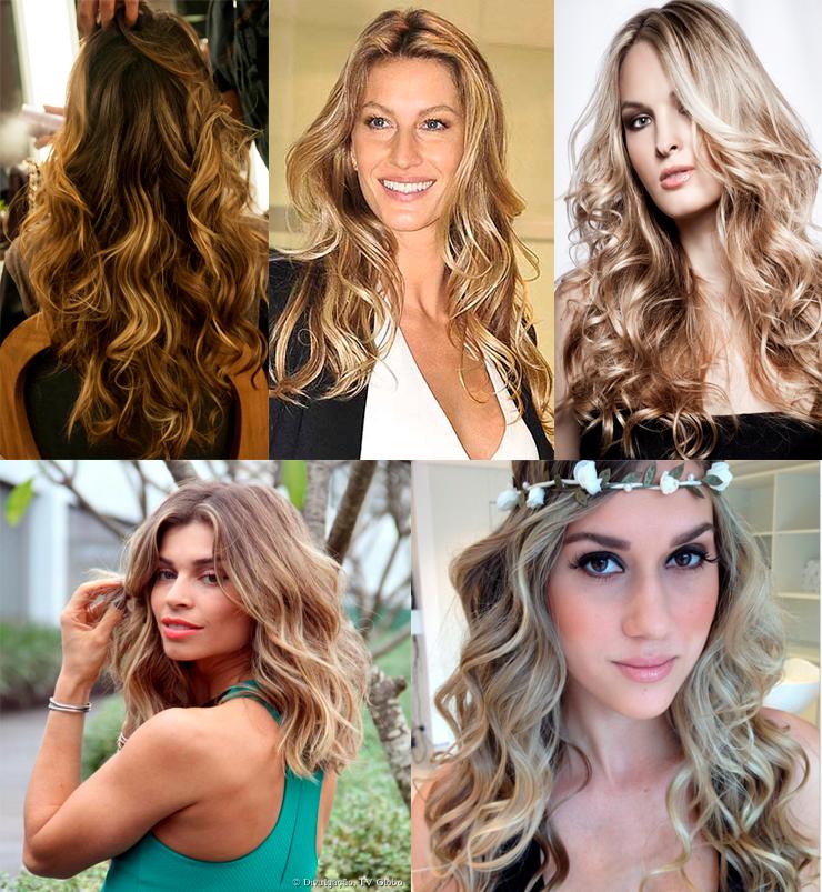 fotos de cabelos com luzes só para meninas