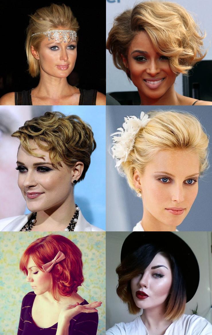 penteados para cabelo curto inspiração