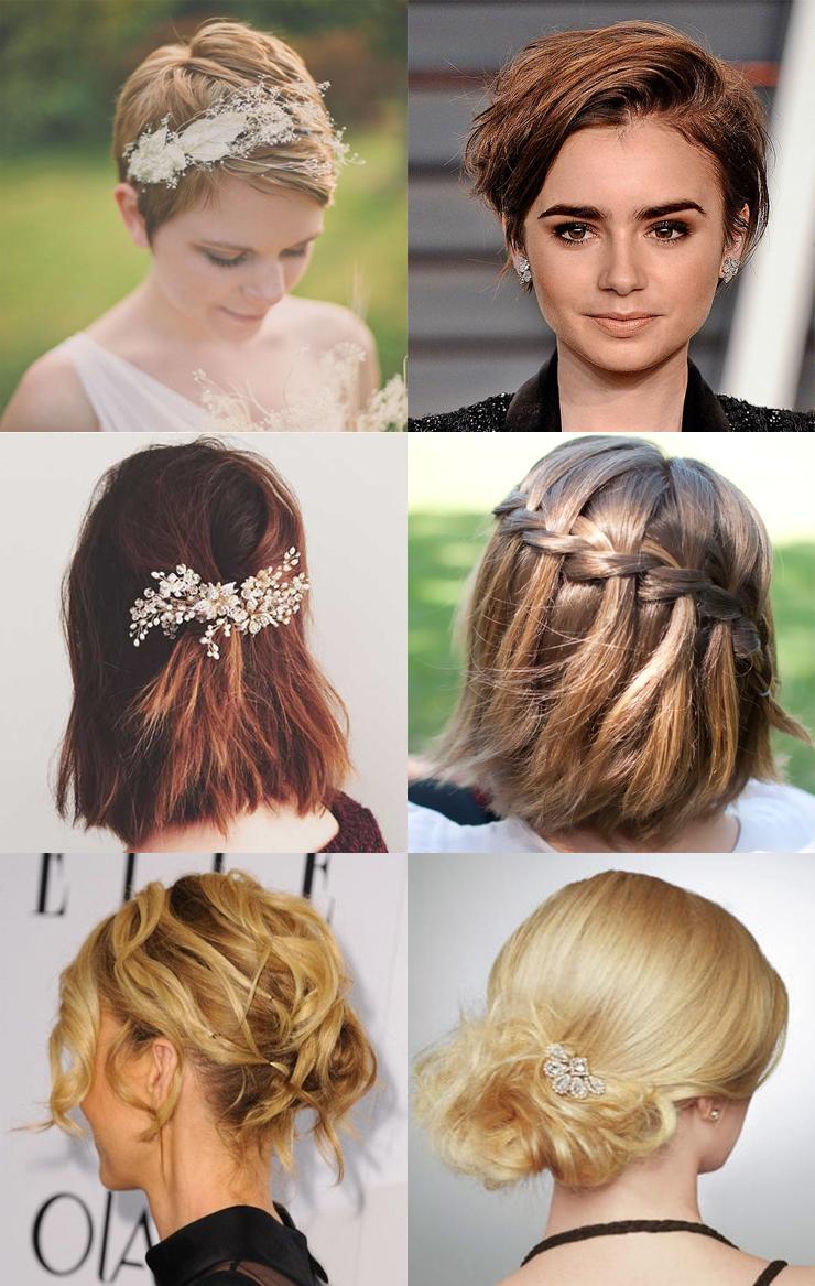 penteados para cabelos curtos opçoes