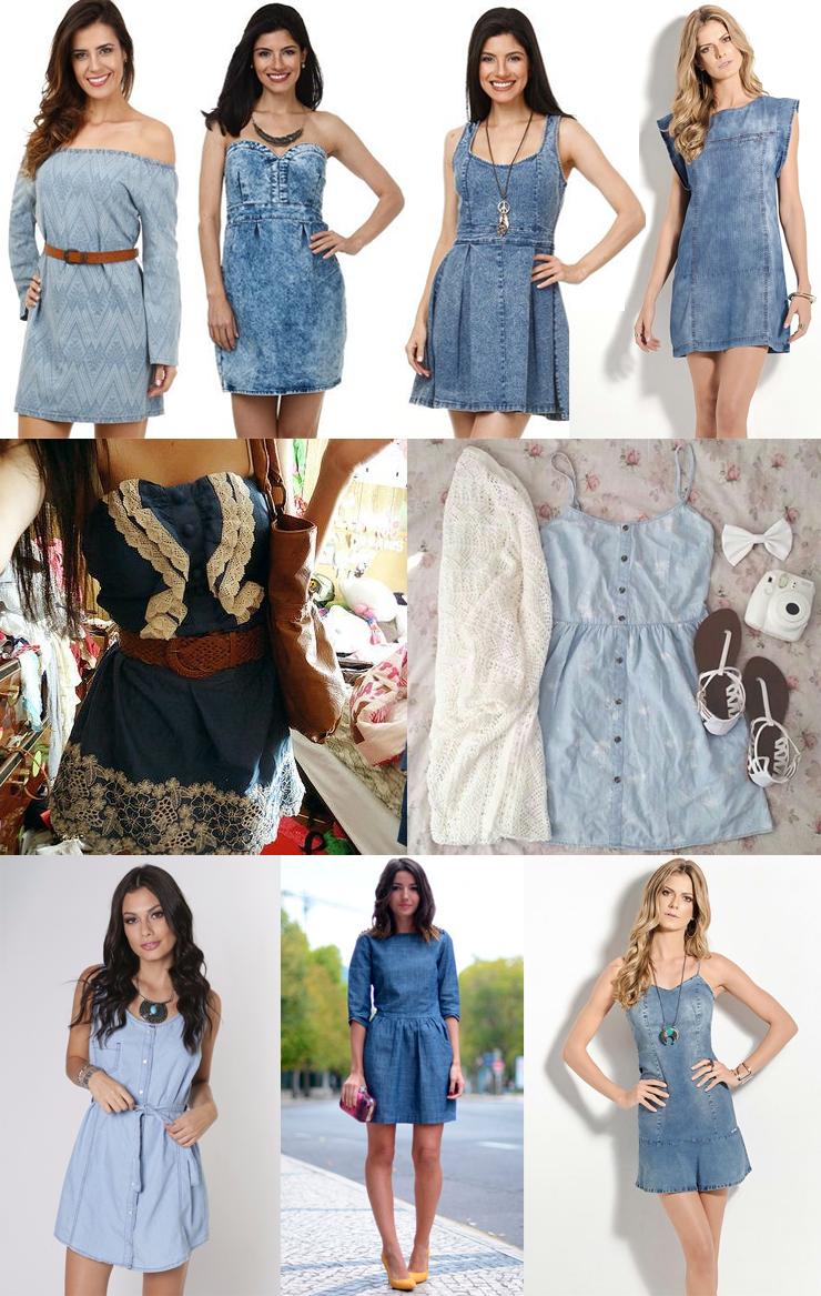 vestidos jeans modelos